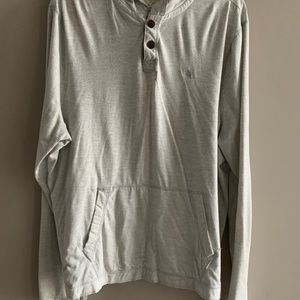 Abercrombie Grey and White Stripe Light Hoodie